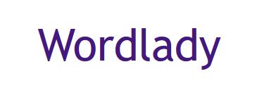 "Logo des Blogs ""Wordlady"", https://katherinebarber.blogspot.com/"