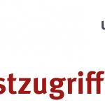 """Schriftzug """"Testzugriff"""" mit ULB-Logo"""