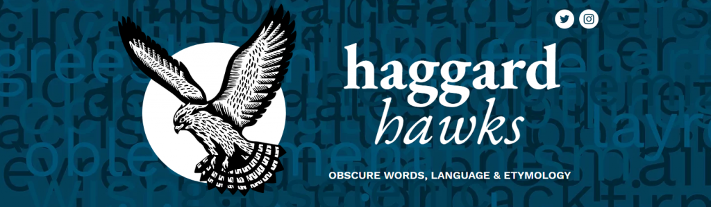 Screenshot der Header-Grafik der Seite HaggardHawks (https://www.haggardhawks.com/) (Stand 21.6.2021)